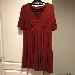 Torrid Burgundy Special Occasion Embroidered Dress